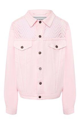 Женская джинсовая куртка FORTE DEI MARMI COUTURE светло-розового цвета, арт. 20SF5372 | Фото 1