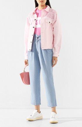 Женская джинсовая куртка FORTE DEI MARMI COUTURE светло-розового цвета, арт. 20SF5372 | Фото 2