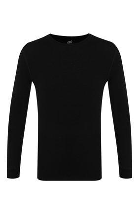 Мужские шерстяной лонгслив NORVEG черного цвета, арт. 14SM1RL | Фото 1