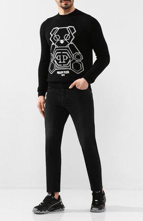 Мужской свитер из смеси шерсти и кашемира PHILIPP PLEIN черно-белого цвета, арт. S20C MKO0764 PKN002N | Фото 2