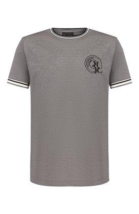 Мужская хлопковая футболка BILLIONAIRE серого цвета, арт. B20C MTK4186 BTE014N | Фото 1
