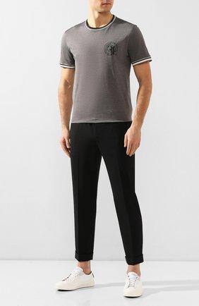 Мужская хлопковая футболка BILLIONAIRE серого цвета, арт. B20C MTK4186 BTE014N | Фото 2