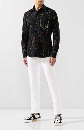 Мужская джинсовая рубашка PHILIPP PLEIN черного цвета, арт. S20C MDP0133 PDE004N | Фото 2