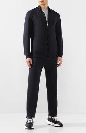 Мужской спортивный костюм из смеси хлопка и шелка BILLIONAIRE темно-синего цвета, арт. B20C MJJ0189 BTE013N | Фото 1