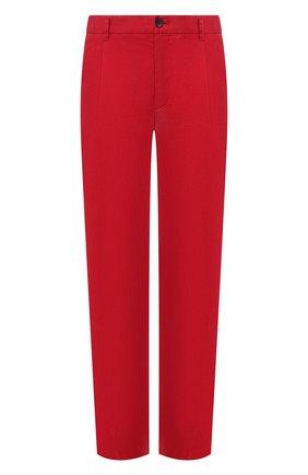 Мужские брюки из смеси льна и хлопка GIORGIO ARMANI красного цвета, арт. 0SGPP09Z/T01FI | Фото 1