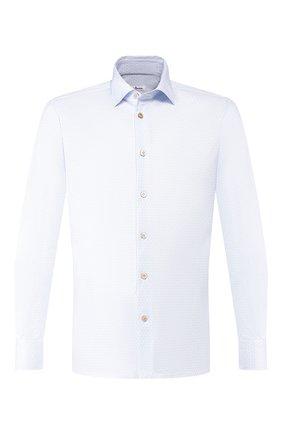 Мужская хлопковая сорочка KITON голубого цвета, арт. UMCNERH0721603 | Фото 1