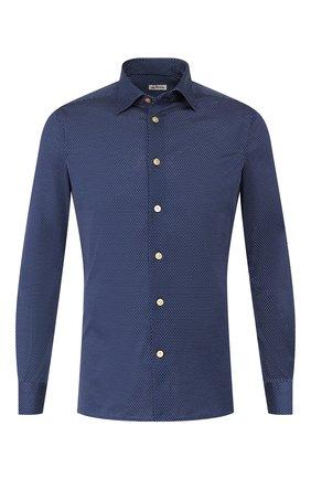 Мужская хлопковая сорочка KITON синего цвета, арт. UMCNERH0721607 | Фото 1