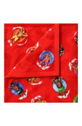 Мужские хлопковое полотенце ERMENEGILDO ZEGNA красного цвета, арт. N7P001030 | Фото 1