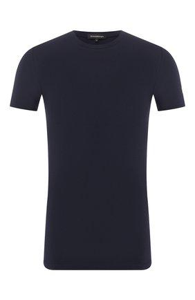 Мужские хлопковая футболка ERMENEGILDO ZEGNA синего цвета, арт. N3M200980 | Фото 1