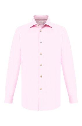 Мужская хлопковая сорочка KITON розового цвета, арт. UCIH0660821 | Фото 1