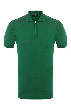 Мужское хлопковое поло KITON зеленого цвета, арт. UK33Z | Фото 1