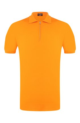 Мужское хлопковое поло KITON оранжевого цвета, арт. UK33Z | Фото 1
