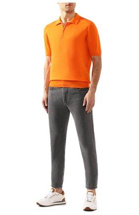 Мужское хлопковое поло KITON оранжевого цвета, арт. UK33Z | Фото 2