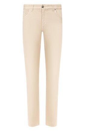 Мужские хлопковые брюки PAUL&SHARK светло-бежевого цвета, арт. C0P4001/FEF | Фото 1