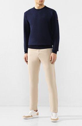 Мужские хлопковые брюки PAUL&SHARK светло-бежевого цвета, арт. C0P4001/FEF | Фото 2
