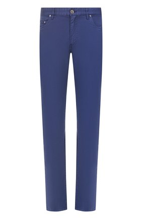 Мужские хлопковые брюки PAUL&SHARK синего цвета, арт. C0P4001/FEF   Фото 1