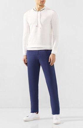 Мужские хлопковые брюки PAUL&SHARK синего цвета, арт. C0P4001/FEF   Фото 2