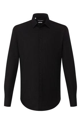Мужская хлопковая сорочка DOLCE & GABBANA черного цвета, арт. G5EJ0T/FJ5GD | Фото 1
