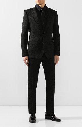 Мужская хлопковая сорочка DOLCE & GABBANA черного цвета, арт. G5EJ0T/FJ5GD | Фото 2