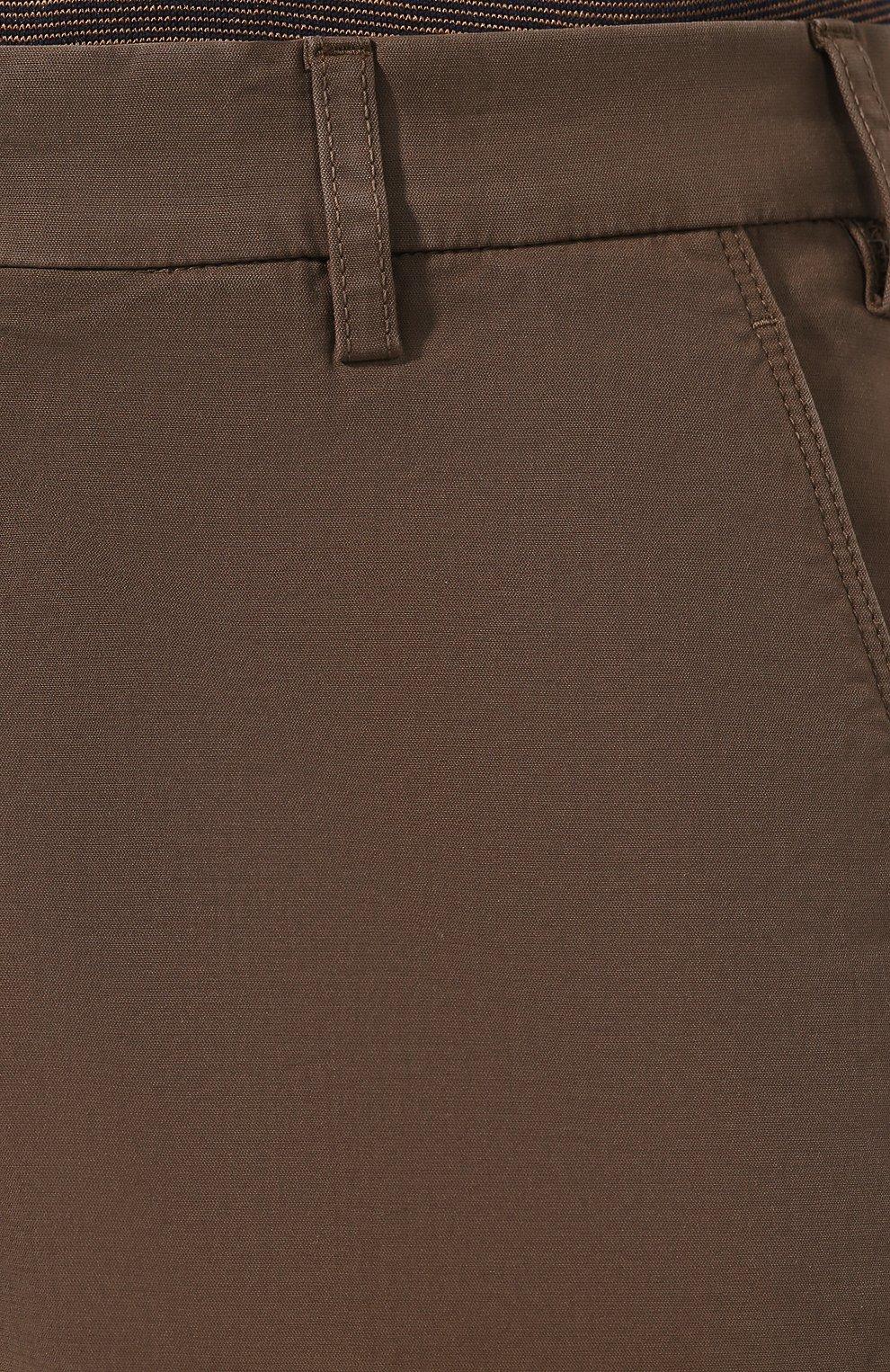 Мужские хлопковые шорты LORO PIANA коричневого цвета, арт. FAE8348 | Фото 5