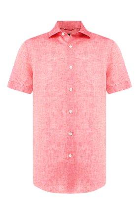 Мужская льняная рубашка ERMENEGILDO ZEGNA розового цвета, арт. UUX38/SCF5   Фото 1