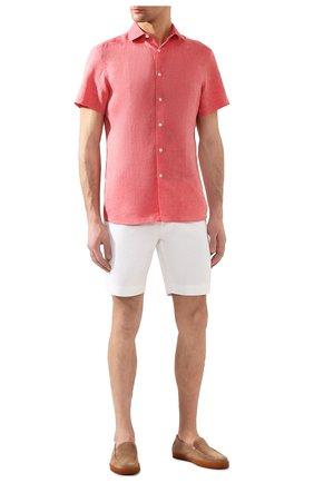 Мужская льняная рубашка ERMENEGILDO ZEGNA розового цвета, арт. UUX38/SCF5   Фото 2