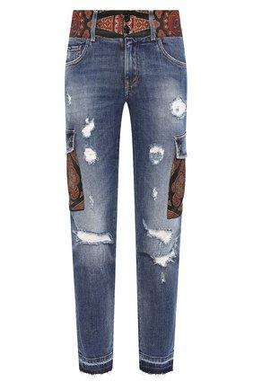 Мужские джинсы DOLCE & GABBANA синего цвета, арт. GW0GLD/G8BY9   Фото 1