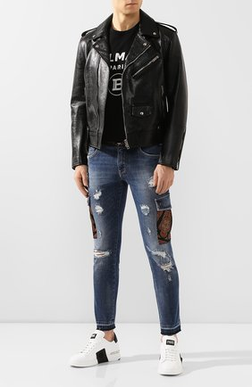 Мужские джинсы DOLCE & GABBANA синего цвета, арт. GW0GLD/G8BY9   Фото 2