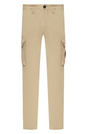 Мужской хлопковые брюки-карго STONE ISLAND бежевого цвета, арт. 7215318WA | Фото 1