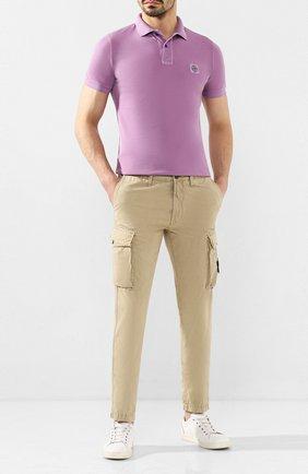 Мужской хлопковые брюки-карго STONE ISLAND бежевого цвета, арт. 7215318WA | Фото 2