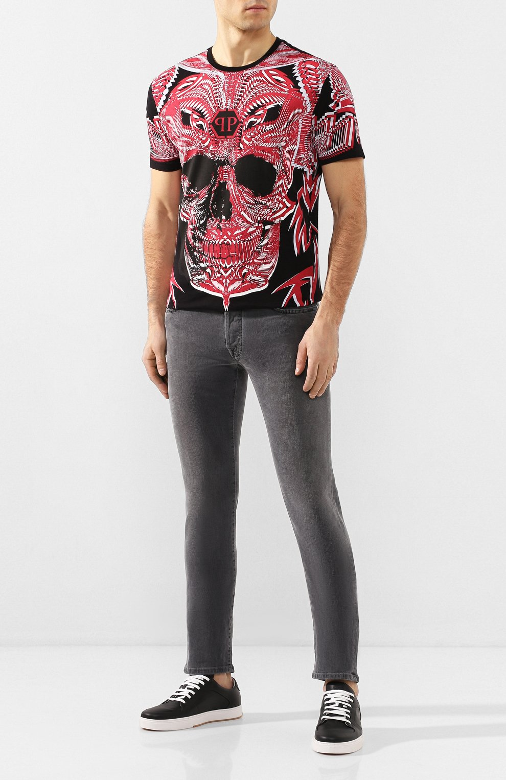 Мужские джинсы JACOB COHEN серого цвета, арт. J688 C0MF 00947-W2/53 | Фото 2