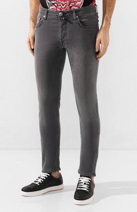 Мужские джинсы JACOB COHEN серого цвета, арт. J688 C0MF 00947-W2/53 | Фото 3