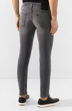 Мужские джинсы JACOB COHEN серого цвета, арт. J688 C0MF 00947-W2/53 | Фото 4