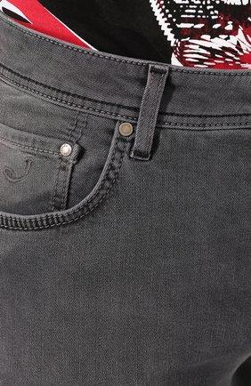 Мужские джинсы JACOB COHEN серого цвета, арт. J688 C0MF 00947-W2/53 | Фото 5