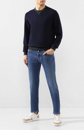 Мужские джинсы JACOB COHEN синего цвета, арт. J688 C0MF 00918-W2/53   Фото 2