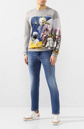 Мужские джинсы JACOB COHEN синего цвета, арт. J622 C0MF TA 00540-W3/53 | Фото 2