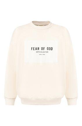 Мужской хлопковый свитшот FEAR OF GOD кремвого цвета, арт. 6H19-1015/FTH | Фото 1
