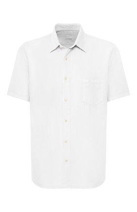 Мужская льняная рубашка 120% LINO белого цвета, арт. R0M1368/0115/000 | Фото 1