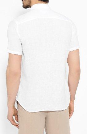 Мужская льняная рубашка 120% LINO белого цвета, арт. R0M1368/0115/000 | Фото 4