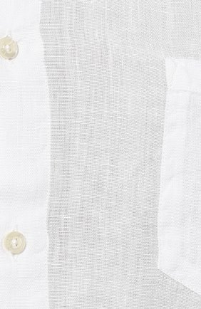 Мужская льняная рубашка 120% LINO белого цвета, арт. R0M1368/0115/000 | Фото 5