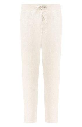 Мужской льняные брюки 120% LINO кремвого цвета, арт. R0M2131/0253/S00 | Фото 1