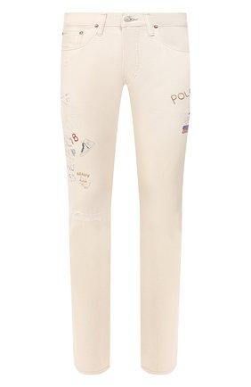 Мужские джинсы POLO RALPH LAUREN кремвого цвета, арт. 710776233 | Фото 1