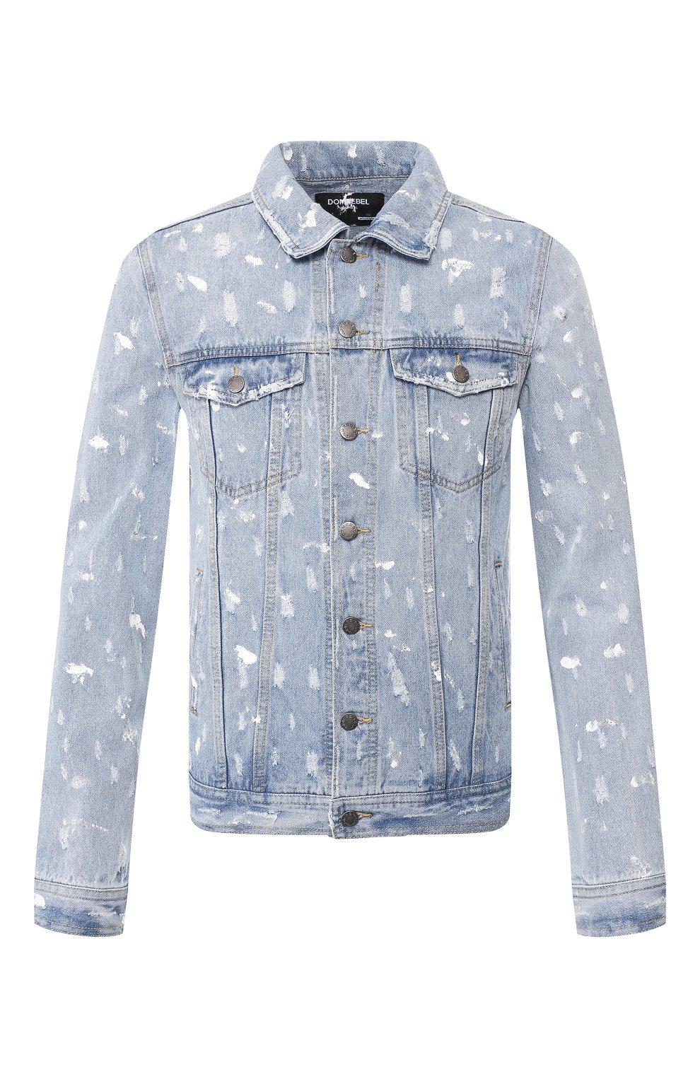 Мужская джинсовая куртка DOM REBEL голубого цвета, арт. REBEL/JEAN JACKET | Фото 1