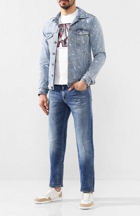 Мужская джинсовая куртка DOM REBEL голубого цвета, арт. REBEL/JEAN JACKET | Фото 2