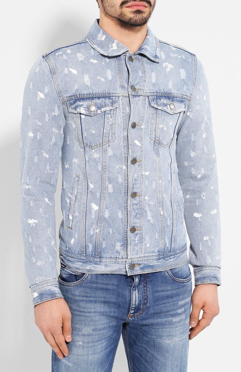 Мужская джинсовая куртка DOM REBEL голубого цвета, арт. REBEL/JEAN JACKET | Фото 3