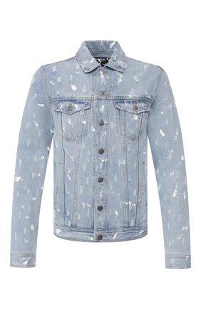 Мужская джинсовая куртка DOM REBEL голубого цвета, арт. FLIP/JEAN JACKET | Фото 1