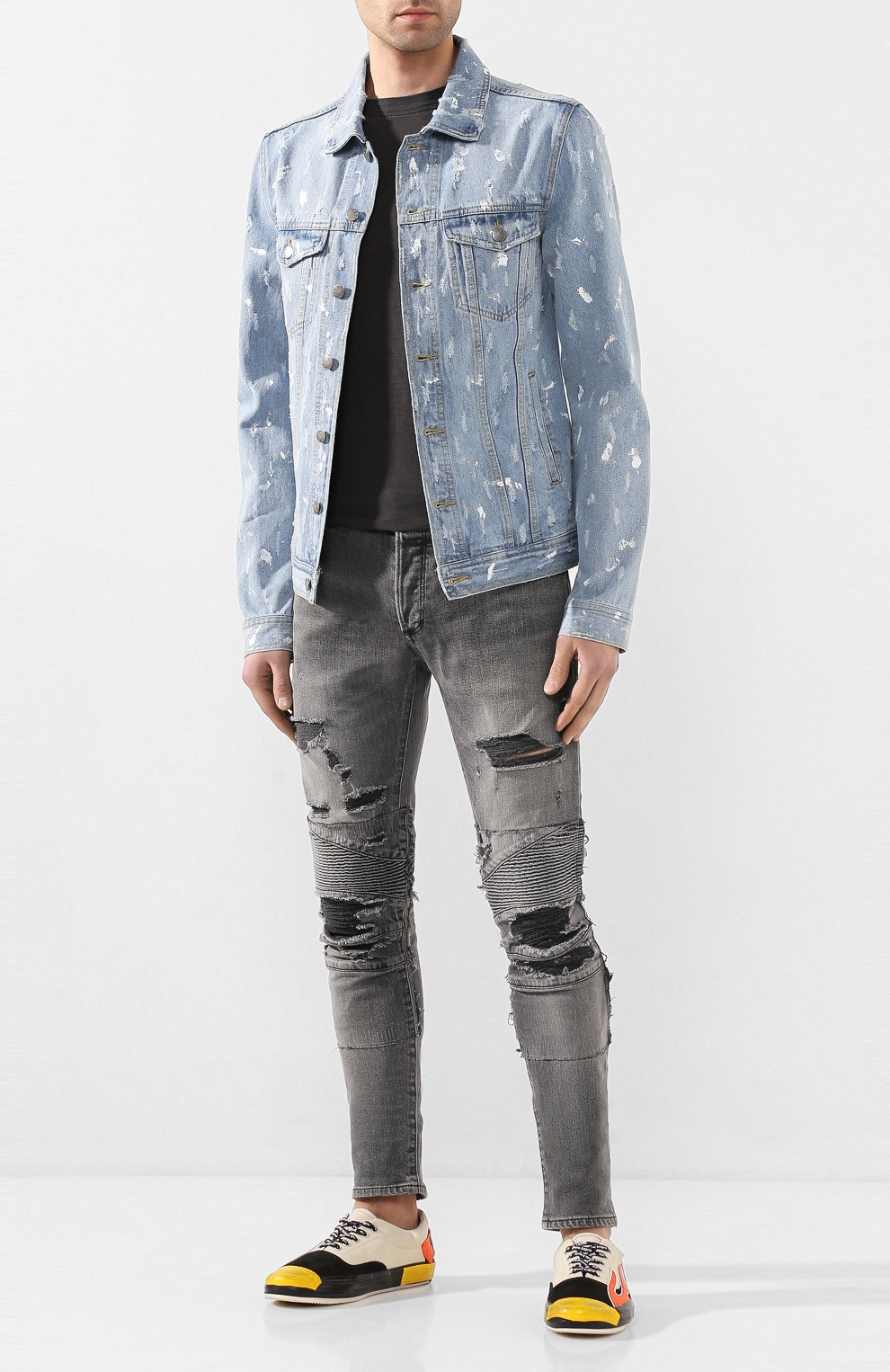 Мужская джинсовая куртка DOM REBEL голубого цвета, арт. FLIP/JEAN JACKET | Фото 2