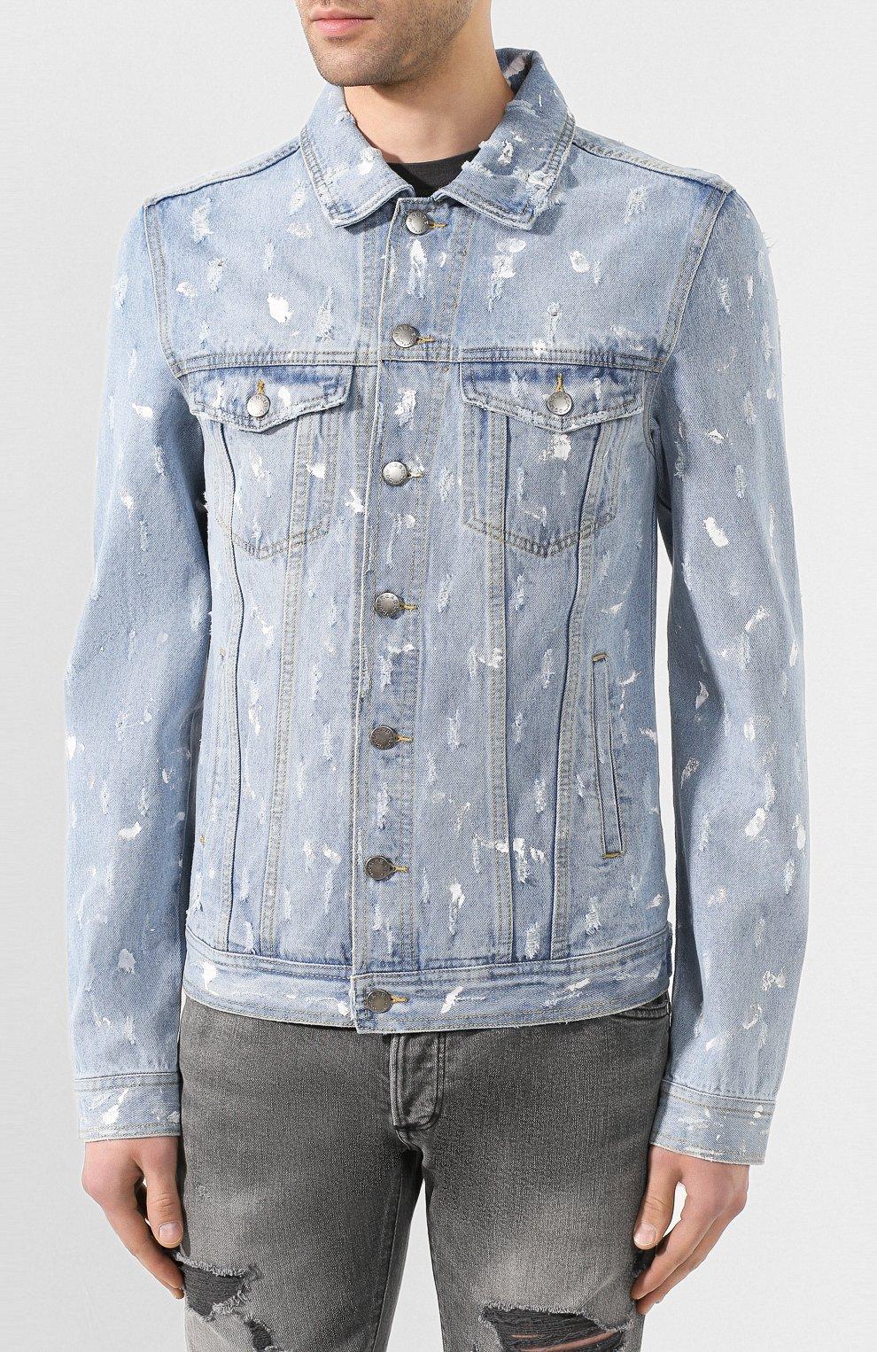 Мужская джинсовая куртка DOM REBEL голубого цвета, арт. FLIP/JEAN JACKET | Фото 3