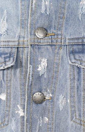 Мужская джинсовая куртка DOM REBEL голубого цвета, арт. FLIP/JEAN JACKET | Фото 5