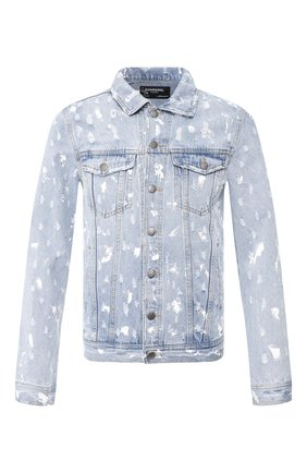 Мужская джинсовая куртка DOM REBEL голубого цвета, арт. DRIBBLE/JEAN JACKET   Фото 1